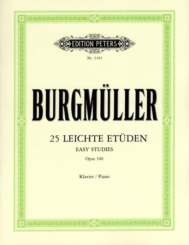 25 Leichte Etüden Opus 100 - Frédéric Burgmuller - laflutedepan.com