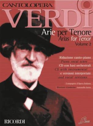Arie Per Ténor Volume 2 VERDI Partition Opéras - laflutedepan