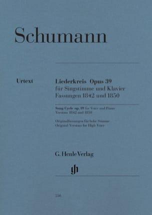 Liederkreis Opus 39 SCHUMANN Partition Mélodies - laflutedepan