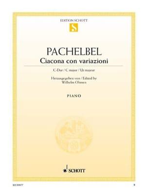 Ciacona Con Variazioni PACHELBEL Partition Piano - laflutedepan