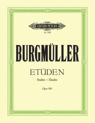 Etudes Opus 109 Frédéric Burgmuller Partition Piano - laflutedepan