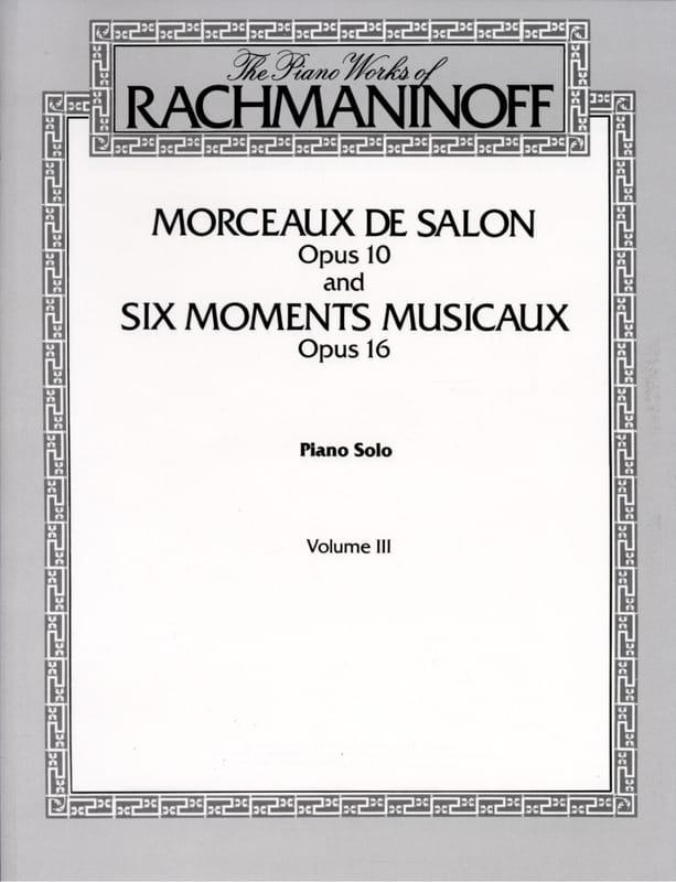 Morceaux de Salon Opus 10 et 6 Moments Musicaux Opus 16 - laflutedepan.com