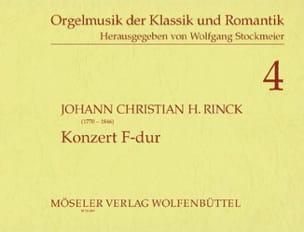 Konzert F-Dur Johann Christian Heinrich Rinck Partition laflutedepan