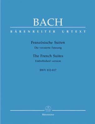 Suites Françaises BACH Partition Piano - laflutedepan