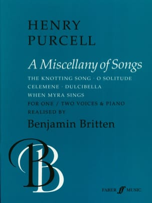 A Miscellany Of Songs PURCELL Partition Duos - laflutedepan
