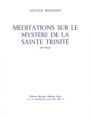 Méditations sur le Mystère de la Sainte Trinité MESSIAEN laflutedepan