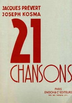 21 Chansons Joseph Kosma Partition Mélodies - laflutedepan