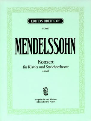 Concerto la Mineur MWV O 2 MENDELSSOHN Partition Piano - laflutedepan