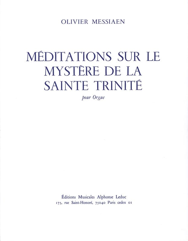 Méditations sur le Mystère de la Sainte Trinité - laflutedepan.com