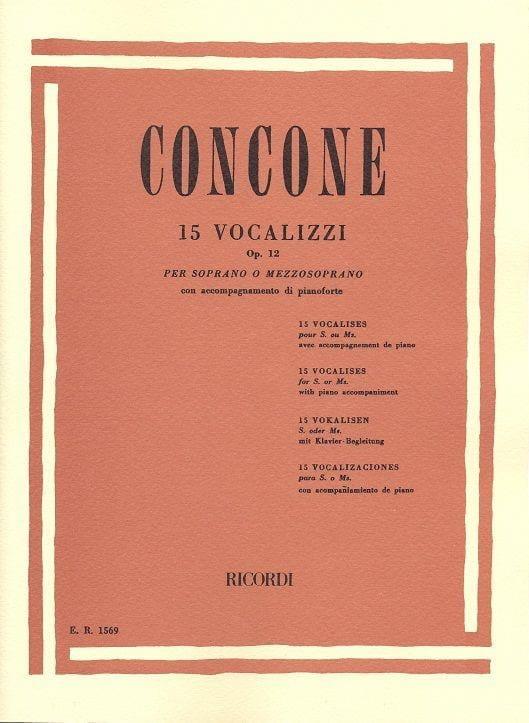 15 Vocalises Opus 12 - Giuseppe Concone - Partition - laflutedepan.com