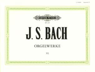 Orgelwerke. Volume 6 BACH Partition Orgue - laflutedepan