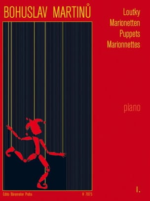 Loutky Volume 1 MARTINU Partition Piano - laflutedepan