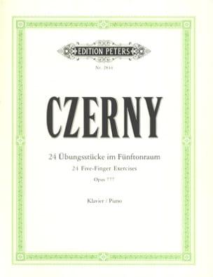 Les 5 Doigts Opus 777 CZERNY Partition Piano - laflutedepan