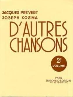 D'autres Chansons Volume 2 Joseph Kosma Partition laflutedepan
