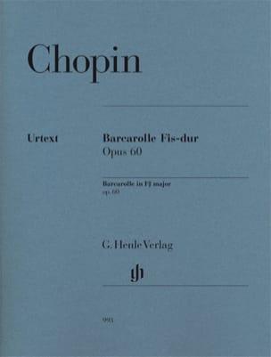 Barcarolle en fa dièse majeur Opus 60 CHOPIN Partition laflutedepan