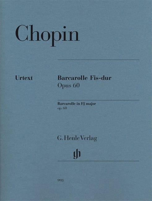 Barcarolle en fa dièse majeur Opus 60 - CHOPIN - laflutedepan.com