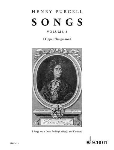 Songs Volume 3 - PURCELL - Partition - Mélodies - laflutedepan.com