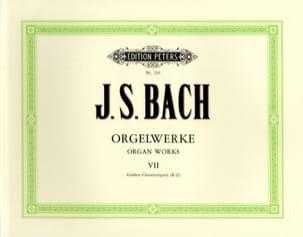 Orgelwerke. Volume 7 BACH Partition Orgue - laflutedepan