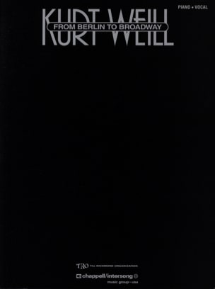 Kurt Weill - From Berlin To Broadway - Partition - di-arezzo.com