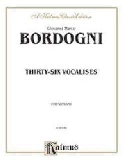 36 Vocalises. Soprano Giovanni Marco Bordogni Partition laflutedepan