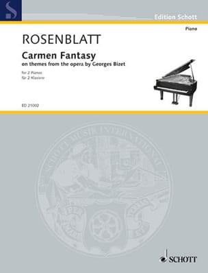 Carmen Fantasy Alexander Rosenblatt Partition Piano - laflutedepan