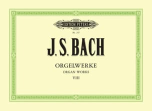 Orgelwerke. Volume 8 BACH Partition Orgue - laflutedepan