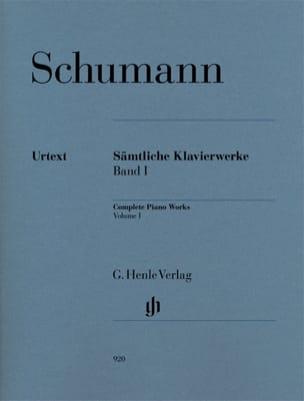 Oeuvre Complète Pour Piano - Volume 1 SCHUMANN Partition laflutedepan