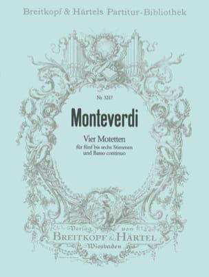 4 Motetten - MONTEVERDI - Partition - Chœur - laflutedepan.com