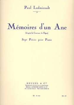 Mémoires d'un Ane Paul Ladmirault Partition Piano - laflutedepan