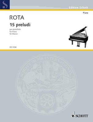 15 Préludes ROTA Partition Piano - laflutedepan