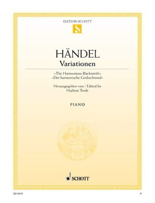 Grobschmied-Variations - HAENDEL - Partition - laflutedepan.com