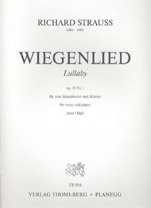 Wiegenlied Opus 41-1. Voix Haute - Richard Strauss - laflutedepan.com