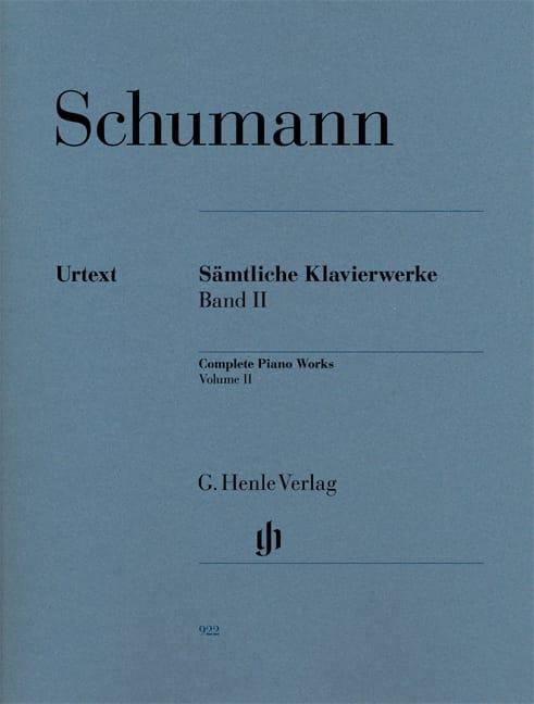 Oeuvre Complète Pour Piano - Volume 2 - SCHUMANN - laflutedepan.com