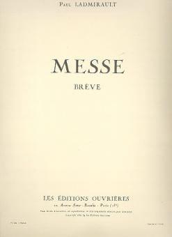 Messe Brève Paul Ladmirault Partition Chœur - laflutedepan