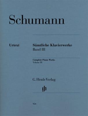 Oeuvre Complète Pour Piano - Volume 3 SCHUMANN Partition laflutedepan
