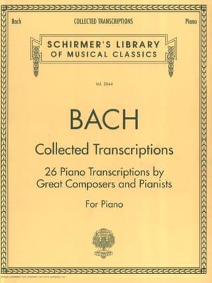 Collected Transcriptions BACH Partition Piano - laflutedepan