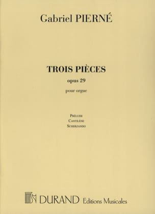 3 Pièces Opus 29. PIERNE Partition Orgue - laflutedepan