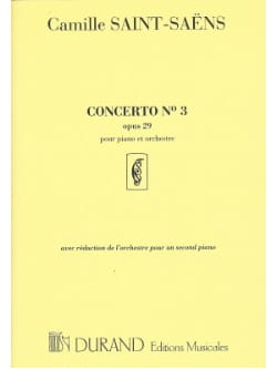 Concerto pour piano n° 3 Opus 29 SAINT-SAËNS Partition laflutedepan