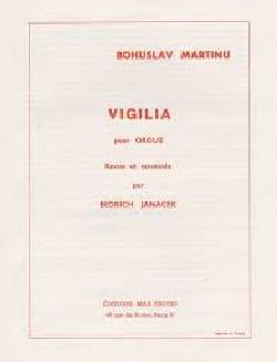 Vigilia. Orgue MARTINU Partition Orgue - laflutedepan
