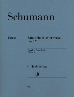 Oeuvre Complète Pour Piano - Volume 5 SCHUMANN Partition laflutedepan