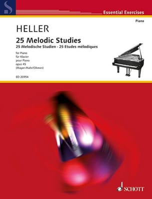 25 Melodic Studies Op. 45 Stephen Heller Partition laflutedepan