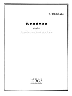 Rondeau MESSIAEN Partition Piano - laflutedepan