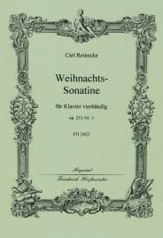 Weihnachts Sonatine Op. 251-3. 4 Mains Carl Reinecke laflutedepan