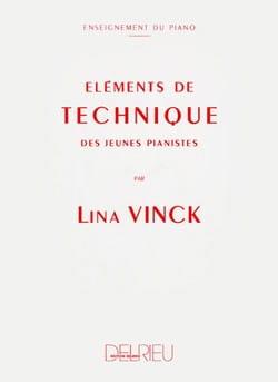 Eléments de technique des jeunes pianistes Lina Vinck laflutedepan
