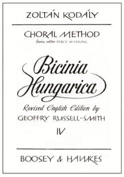 Bicinia Hungarica Volume 4 KODALY Partition Pédagogie - laflutedepan