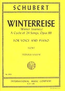 Winterreise Opus 89. Voix Grave - SCHUBERT - laflutedepan.com