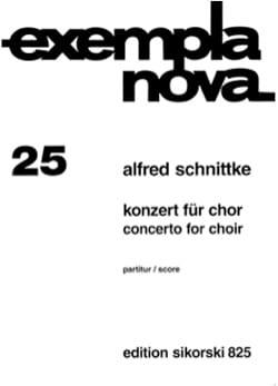 Konzert für Chor SCHNITTKE Partition Chœur - laflutedepan