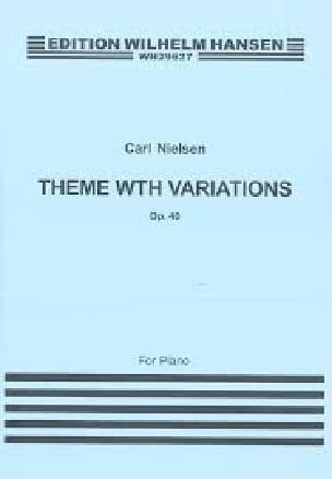 Thème et Variations op. 40 - NIELSEN - Partition - laflutedepan.com