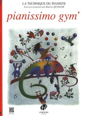 Pianissimo Gym' Béatrice Quoniam Partition Piano - laflutedepan