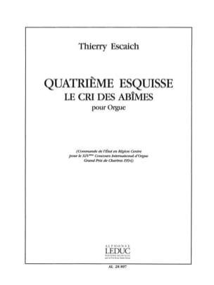 Esquisse N°4 Thierry Escaich Partition Orgue - laflutedepan